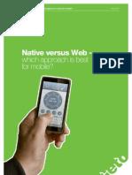 Native Versus Web White Paper