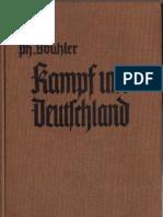 Bouhler, Philipp - Kampf Um Deutschland - Ein Lesebuch Fuer Die Deutsche Jugend (1939, 58 Doppels., Scan, Fraktur)