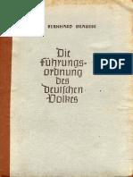Brausse, Hans - Die Fuehrungsordnung Des Deutschen Volkes (1942, 210 S., Scan, Fraktur)