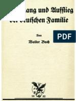 Buch, Walter - Niedergang Und Aufstieg Der Deutschen Familie (1932, 56 S., Scan, Fraktur)