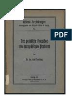 Budding, Carl - Der Polnische Korridor Als Europaeisches Problem (1932, 46 S., Scan, Fraktur)