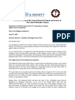 4/13/1999 Oral Intervention of Peggy Scott & GBCS of the UMC, Geneva