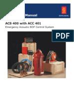 Acs 400 Instruction Manual