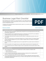 Hall and Wilcox_Business Legal Risk Checklist