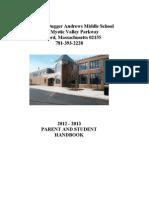 Madeleine Dugger Andrews Middle School Handbook 12-13