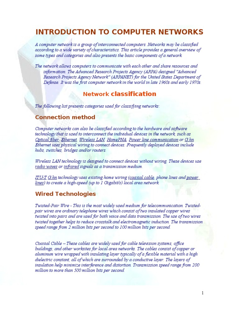 A Computer Network is a Group of Interconnected Computers | Virtual ...