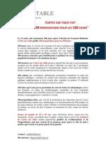 CST 100propositions 100jours