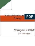 Rational Emotive Behavior Therapy Final