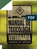 MANUAL DE TOXICOLOGÍA VETERINARIA