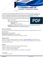 Abep Congress 2012 Call for Papers