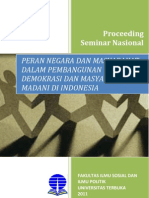 Peran Negara Dan Masyarakat Dalam Pembangunan Demokrasi Dan Masyarakat Madani Di Indonesia