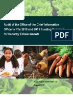 USDA $2M Intern (Audit of the OCIO)