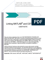 HowTo Use CST and Matlab Togather