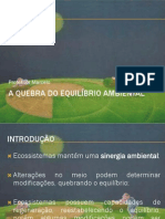 A Quebra Do Equilibrio Ambiental