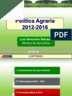 Politica Agraria 2012 2016