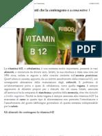 Vitamina b12 Alimenti Che La Contengono e a Cosa Serve