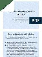 2.2 ADR Estimacion de Tamanio de Una DB Presenta