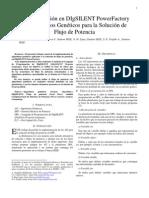 Implementación en DIgSILENT PowerFactory de Algoritmos Geneticos para la solución de flujo de carga