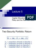 Lecture 5- Principles of Financial Economics