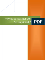 Rapport Why Do Companies Go Public