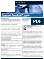 Business Analytics Program
