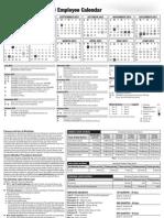 2012-2013 Employee Calendar