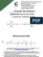 Planificación de síntesis I sn1