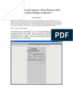 How to Create a Dave Ramsey Budget in Quicken