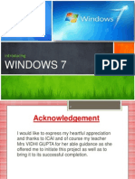 Windows 7 - ITT Project