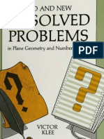 Old and New Unsolved Problems in Plane Geometry and Number Theory (Dolciani Mathematical Expositions) by Victor Klee, Stan Wagon