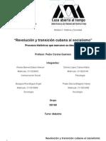 Revolución y Transición cubana al Socialismo.
