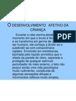 O DESENVOLVIMENTO  AFETIVO DA CRIANÇA