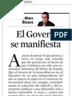 Francesc-Marc Álvaro. El Govern Se Manifiesta