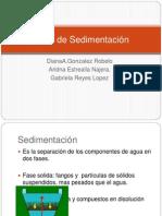 Tipos de Sedimentación