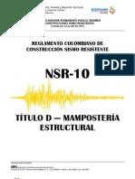 Nsr-10 Titulo d