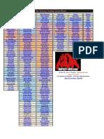 2012 Tier Fantasy Football Cheat Sheet - Updated 8-13