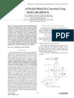 Development of Switch Mode Dc Converter Using MATLAB/ dSPACE