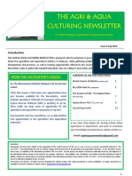 Agriculture and Aquaculture Newsletter July 2012