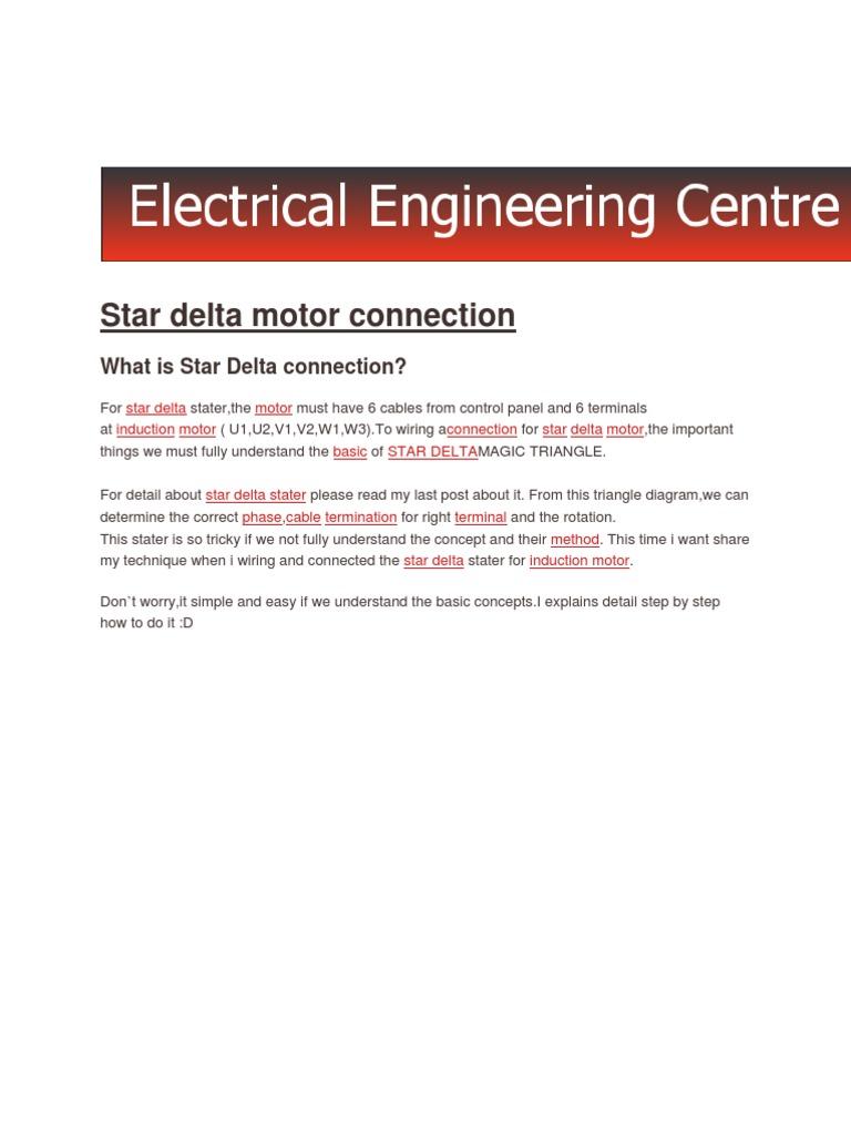 Phase Motor Star Delta Connection On Wye Delta Starter Diagram