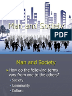 Man and Society Ppt Mae