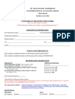 24th Conference Registration Form