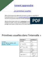 Primitives usuelles