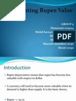 Depreciating Rupee Value