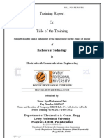 Training Project of VLSI