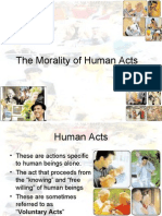 The Morality of Human Acts