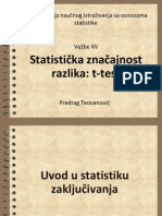 Statisticka znacajnost i razlika:t-test