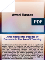 Awad Rasras is a Member of Statistical Organization Of America