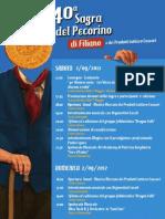 Programma Sagra Pecorino di Filiano DOP 2012