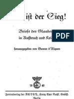 D'Alquen, Gunter - Das Ist Der Sieg (1940, 192 S., Scan, Fraktur)