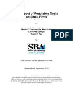 SBA - Impact of Regulatory Costs on Small Firms